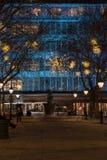 Christmas Lights Display on Duke of York, London UK Stock Photography