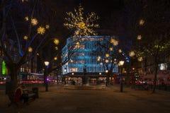 Christmas Lights Display on Duke of York, London UK Stock Image