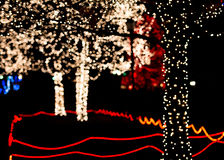 Christmas Lights Display Royalty Free Stock Photo