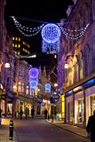 Christmas lights in downtown Birmingham, UK Stock Photography