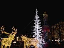 Christmas lights in Esplanade Park Stock Images