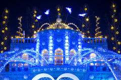 Christmas lights in everland Stock Photo