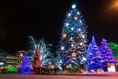 Christmas lights. Famous Leavenworth Christmas lights festival in the Washington state Bavarian village Royalty Free Stock Image