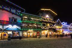 Christmas lights. Famous Leavenworth Christmas lights festival in the Washington state Bavarian village Royalty Free Stock Images