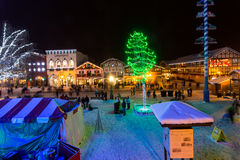 Christmas lights. Famous Leavenworth Christmas lights festival in the Washington state Bavarian village Royalty Free Stock Photos