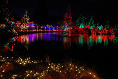 Christmas lights festival Royalty Free Stock Photo