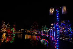 Christmas lights festival Royalty Free Stock Image