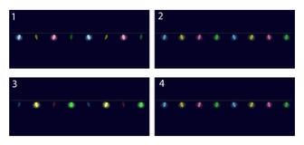 Christmas lights festive decorations. Animation frames Stock Photo