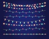 Christmas lights. Festive decorations. vector set eps10 Stock Photo