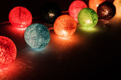 Christmas lights with fiber covers Royalty Free Stock Images