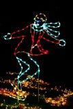 Christmas Lights - Figure Skater! Stock Images