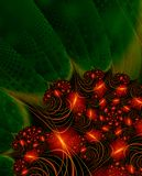 Christmas Lights - fractal image stock photo
