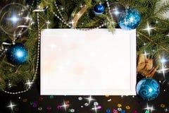 Christmas lights frame stock image