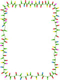 Christmas lights frame stock illustration