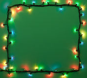 Christmas lights frame Stock Images