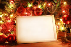 Christmas lights frame Stock Image