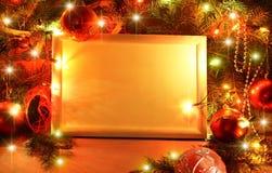 Christmas lights frame royalty free stock photos