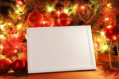 Christmas lights frame Royalty Free Stock Photos