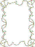 Christmas lights frame. The background of christmas lights frame with white copy space for Christmas holiday Stock Images