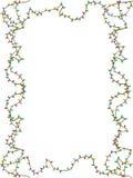 Christmas lights frame Stock Images