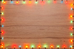 Christmas lights frame Royalty Free Stock Images