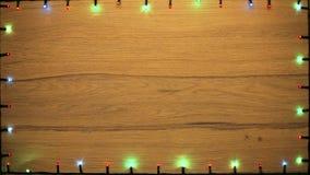 Christmas lights frame stock video