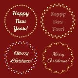 Christmas Lights Frames for Celebratory Design Royalty Free Stock Image