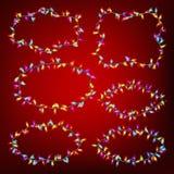 Christmas Lights Frames. EPS 10 Stock Image