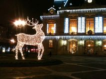 Christmas lights in France Stock Photo