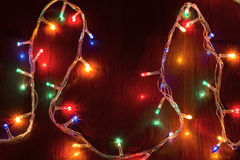Christmas lights garland Stock Photography