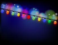 Christmas lights garlands Royalty Free Stock Photo