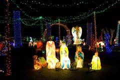 Christmas lights and gods Stock Photo