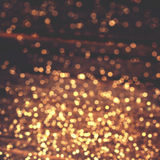 Christmas lights - Golden blurry  soft Bokeh background for your Stock Image