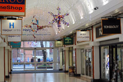 Christmas lights, Harpur centre, Bedford, UK. Stock Photography