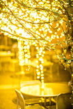Christmas lights and holiday decorations in the city Royalty Free Stock Images
