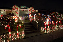 Christmas lights house Royalty Free Stock Photography