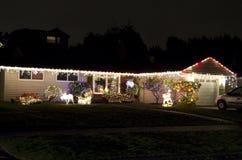 Christmas lights house home royalty free stock photo