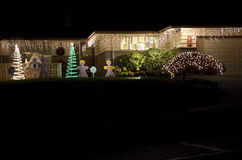 Christmas lights house home royalty free stock photos