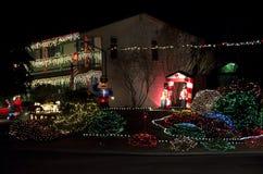 Christmas lights house. Nice Christmas lights of a house in a Seattle neighborhood royalty free stock image