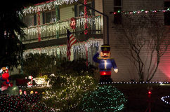 Christmas lights house. Nice Christmas lights of a house in a Seattle neighborhood stock images