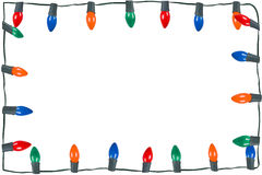 Christmas lights isolated. String of christmas lights isolated on white Stock Photography