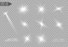 Light flare special effect. Star burst. Vector sparkles on black background.Light flare special effect.Christmas lights is. Christmas lights isolated on black royalty free illustration
