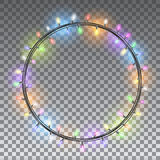 Christmas lights isolated design elements royalty free illustration