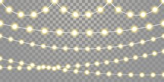 Free Christmas Lights Isolated Garland Lamp Strings On Transparent Background Stock Photo - 131969430