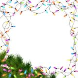 Christmas lights isolated on white. EPS 10. Christmas lights isolated on white background. EPS 10 vector file included Stock Photos