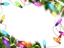 Christmas lights isolated on white. EPS 10 Stock Photos