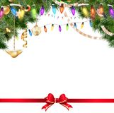 Christmas lights isolated on white. EPS 10. Christmas lights isolated on white background. EPS 10 vector file included Royalty Free Stock Photo