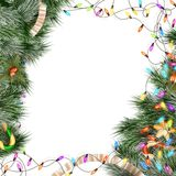 Christmas lights isolated on white. EPS 10. Christmas lights isolated on white background. EPS 10 vector file included Royalty Free Stock Images