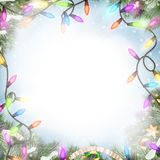 Christmas lights isolated on white. EPS 10. Christmas lights isolated on white background. EPS 10 vector file included Royalty Free Stock Image
