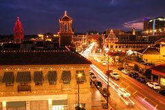 Christmas Lights at Kansas City Country Club Plaza Stock Photos